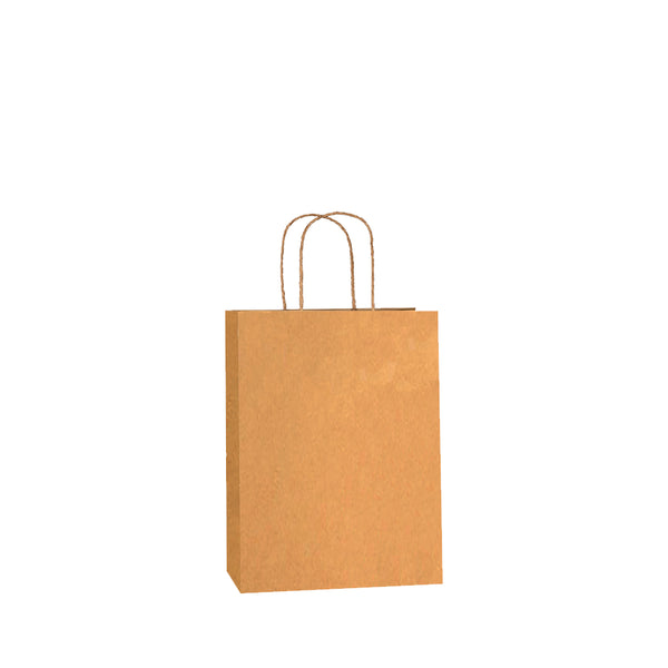 Brown Kraft w/twist handles (price per 250) - BagMasters Australia