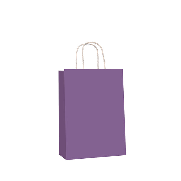 Purple Kraft w/twist handle  (price per 250) - BagMasters Australia