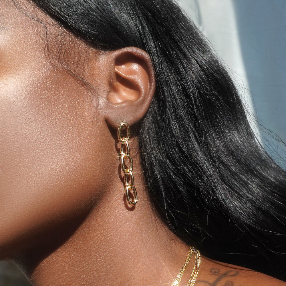 Bold Link Earrings