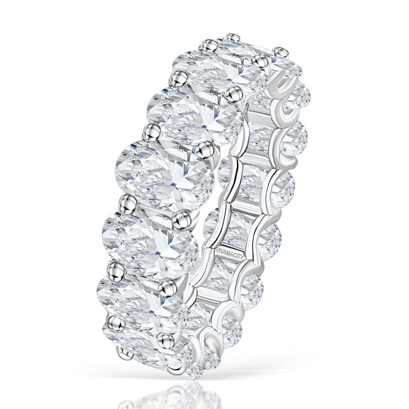 Glam Oval Infinity Diamond Ring