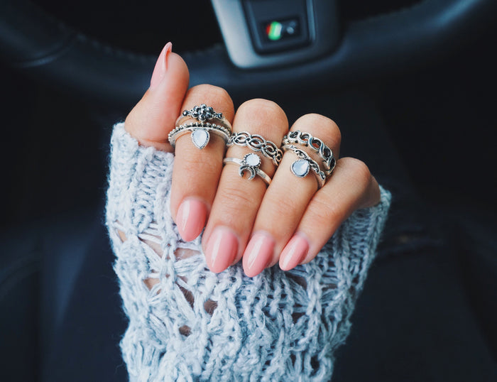 Ice Queen Midi Ring Set