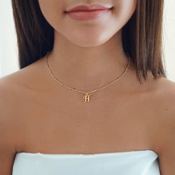 Custom Letter Choker Necklace