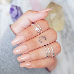 Moon Midi Ring Set