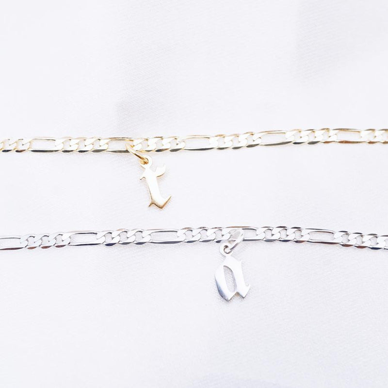 Gothic Initial Anklet