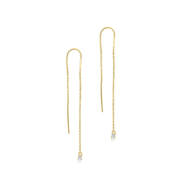 Diamond Threader Earrings