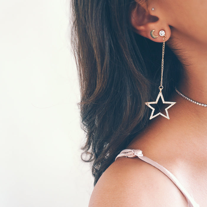 Striking Star Diamond Earrings