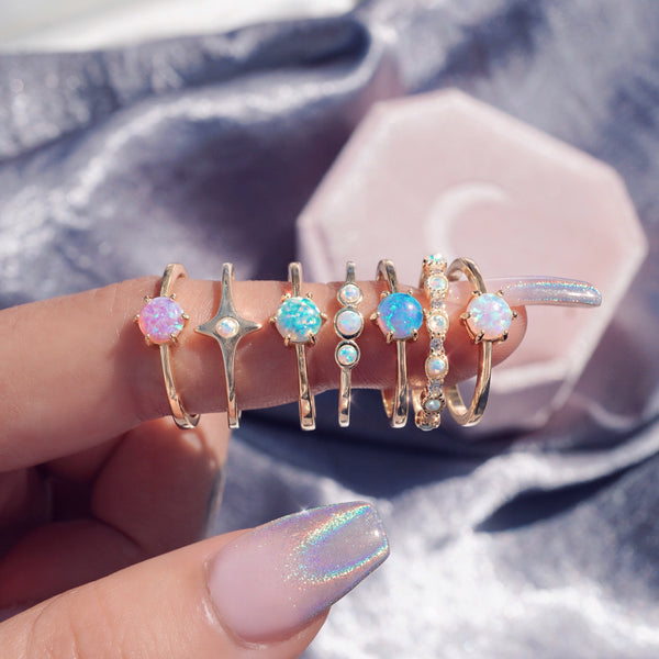Pink Opal Ring