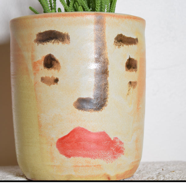Hand Painted Morning After Makeup Face Planter