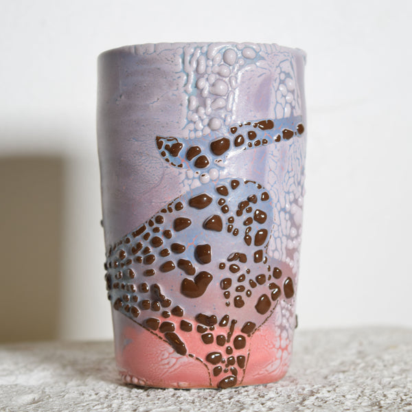 OOAK Textured Sunset Crawl Vase
