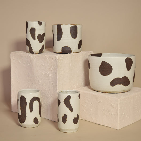 Black + White Dalmation Planter (small)