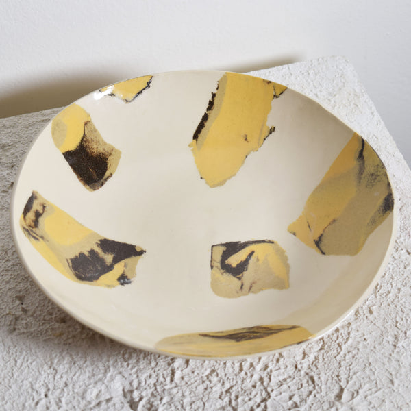 Inlaid Agate Shallow Bowl