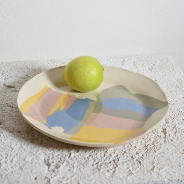 Rainbow shapes small plate