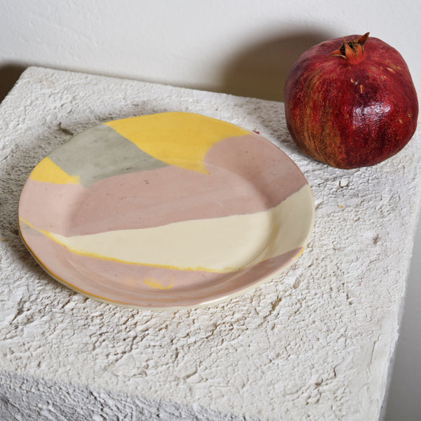 Abstract Blush + Cream Small Plate