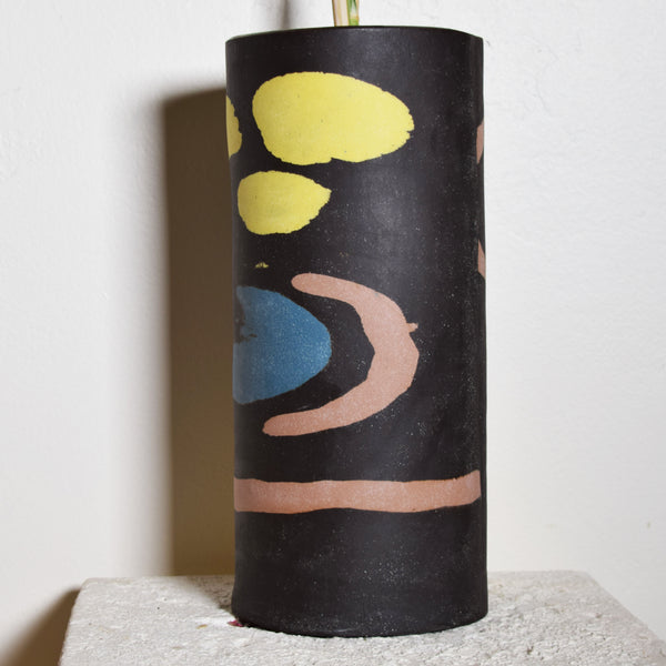 Abstract Inlay Vessel
