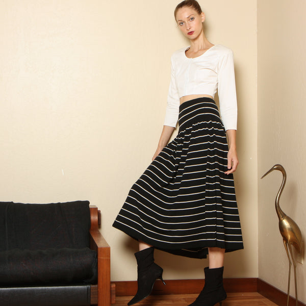 Vintage 90's Liz Claiborne Striped Wool Knit Skirt