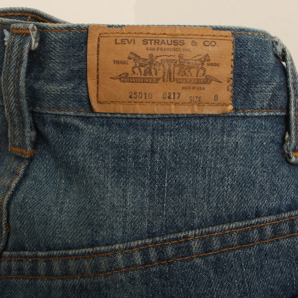 Vintage 70's Levi's 25010 0217 Orange Tab Denim
