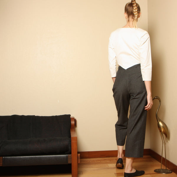 Vintage 80's Saint Laurent Rive Gauche Wool Trousers