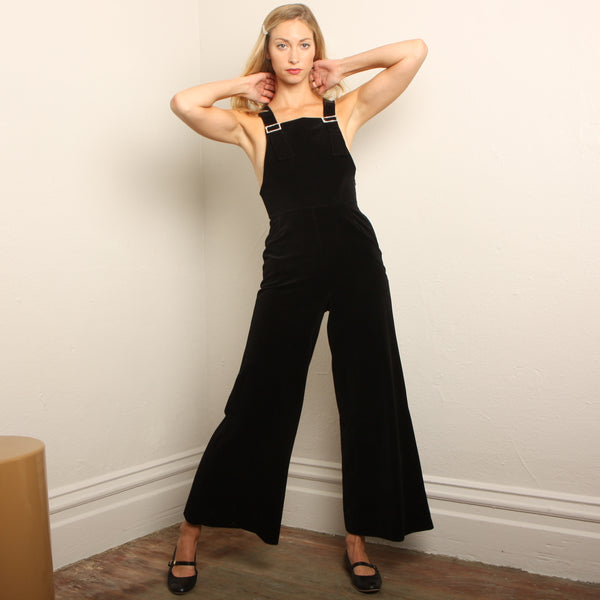 "Vintage 70's Vanity Fair ""Dance Team"" Velour Overalls"