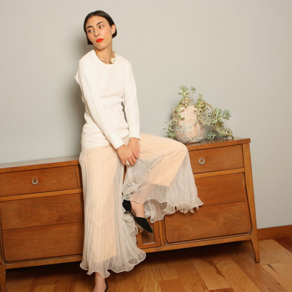 Vintage 60's Pleated Sheer Palazzo Pants