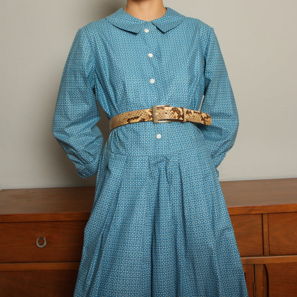 Vintage Handmade Calico Cotton Prairie Dress