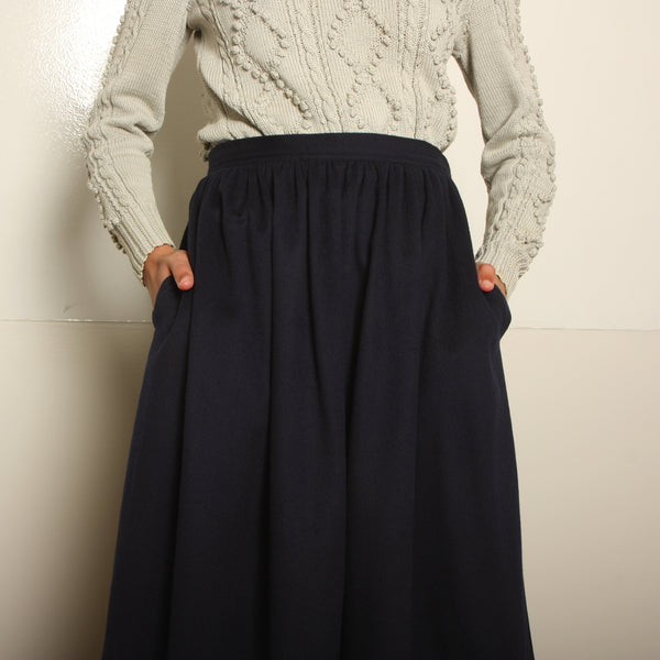 Vintage 70's Yves Saint Laurent Rive Gauche Wool Skirt