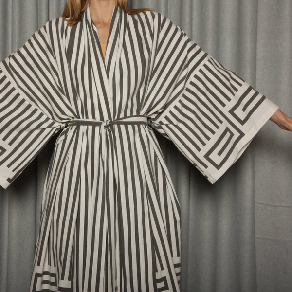 Vintage Striped Cotton Lounge Ensemble