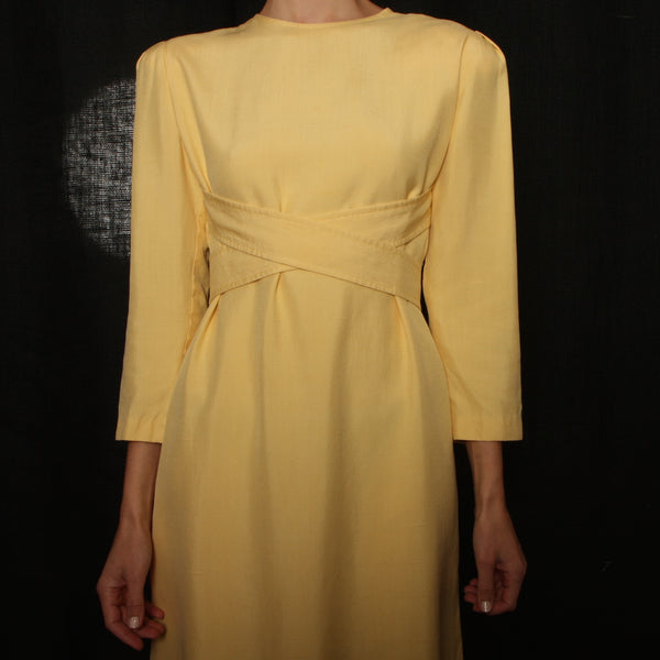 Vintage 60's William Pearson Butter Silk Dress