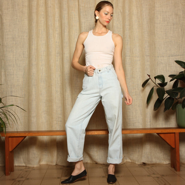 Vintage 80's Riveted Lee Dungaree Jeans