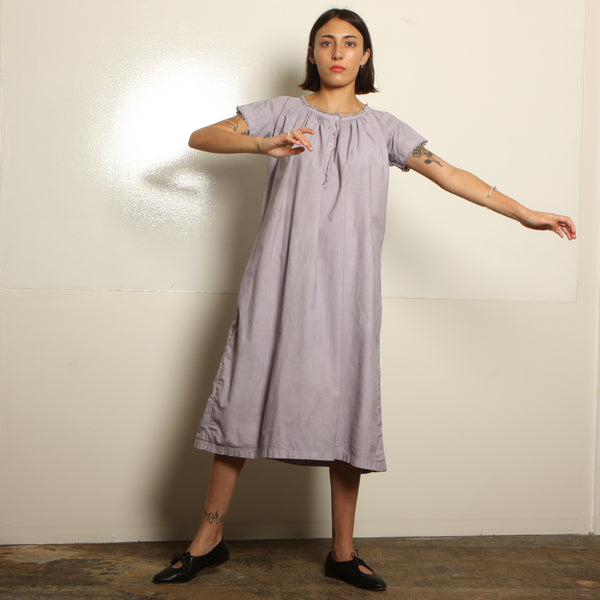Antique Victorian Overdyed Cotton Trapeze Dress