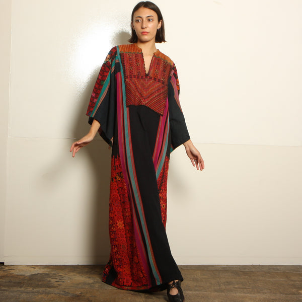 Vintage Afghani Heavily Embroidered Maxi Dress