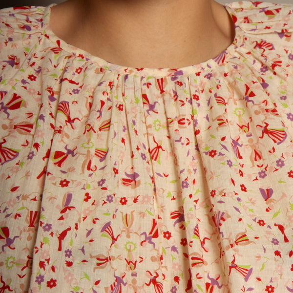 Trapeze Top - 1930's Printed Cotton Voile