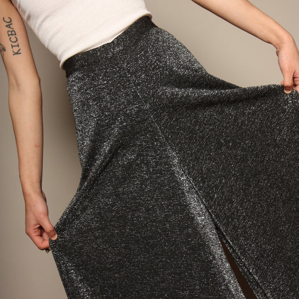 Vintage 70's Silver Glitter Palazzo Pants