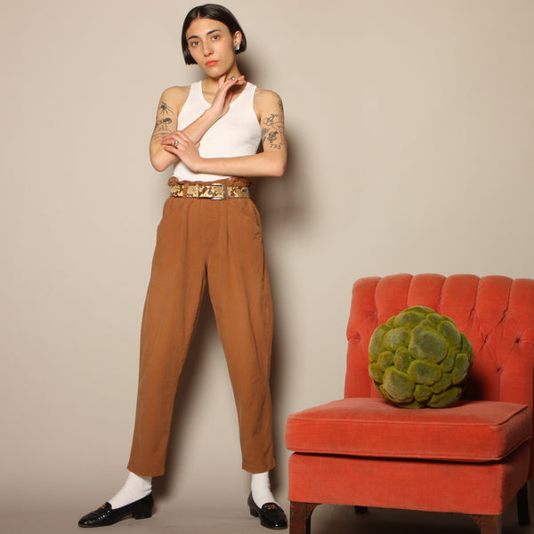 Vintage 80's Spice Cotton Sack Waist Pants