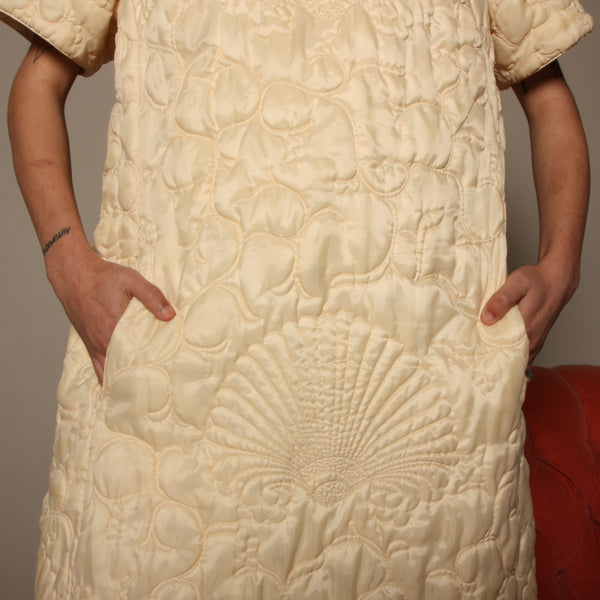 Vintage 60's Quilted Seashells Dress