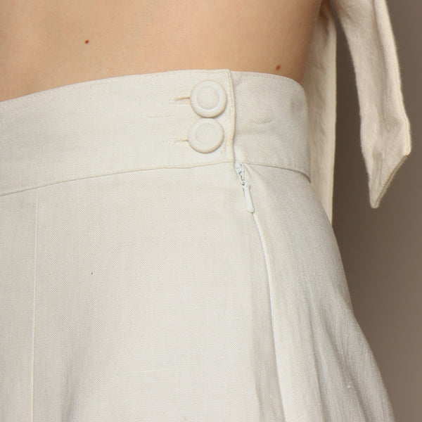 Vintage 90's Laura Ashley Linen Pleat Skirt
