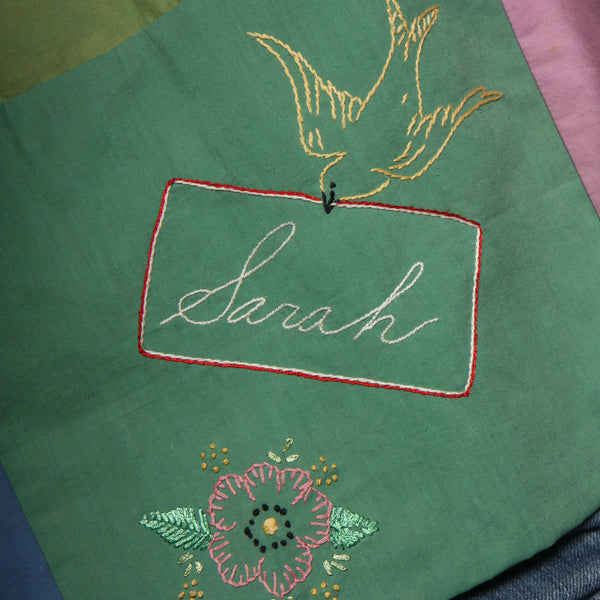 Trapeze Top - 1930's Hand Embroidered Family Album