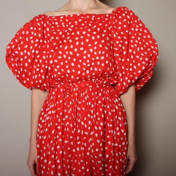 Vintage 70's Stanley Sherman Cotton Dots Dress