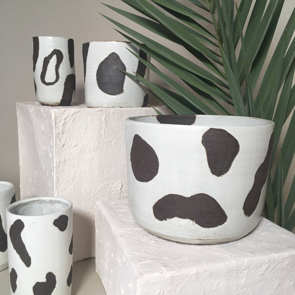 Black + White Dalmation Planter (large)