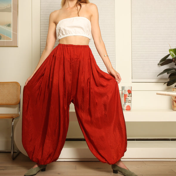 Vintage Ethereal Silk Balloon Pants