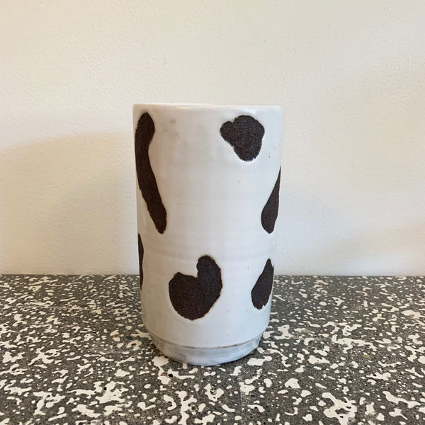 Black + White Dalmation Vase