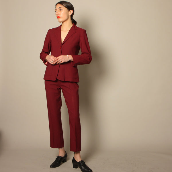 Vintage 70's Sangria Mod Fitted Suit