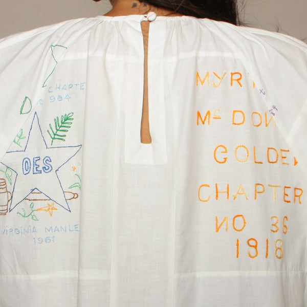 Trapeze Dress - Mid Century Embroidered Masonic Quilt