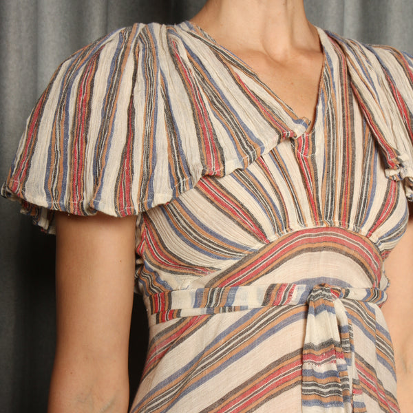 Vintage 70's Indian Cotton Gauze Bias Dress