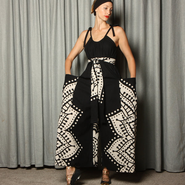Vintage Hand Block Printed Cotton Jumpsuit