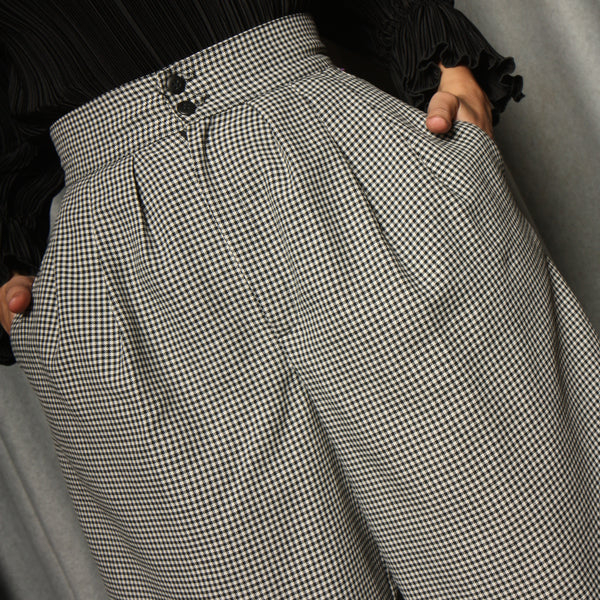 Vintage Early 80's Pleated Houndstooth Shorts