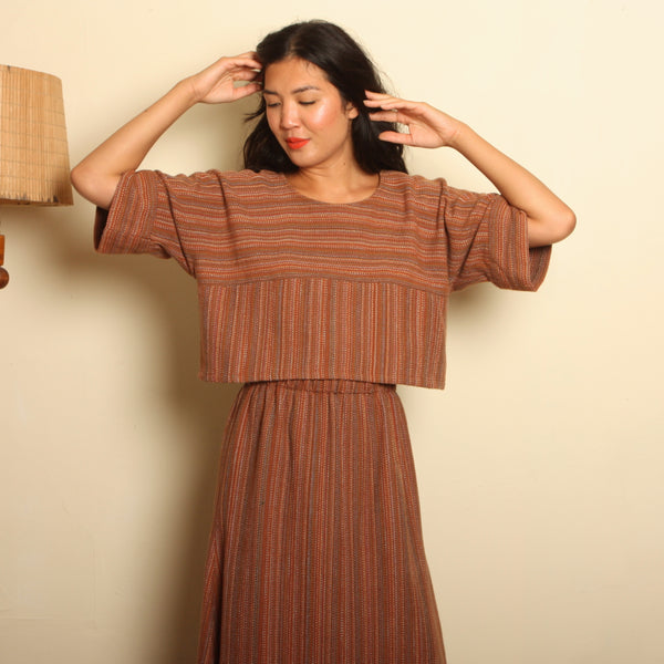 Vintage 70's Handwoven Cotton Ensemble