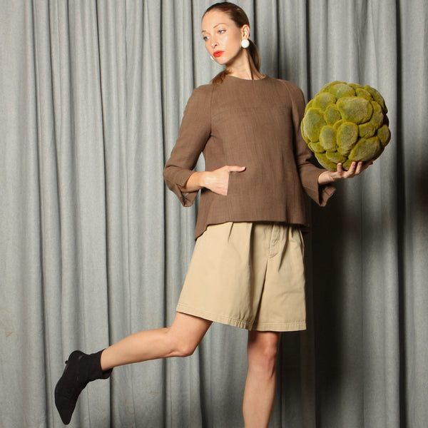 Vintage 60's Galanos Wool Shell Top