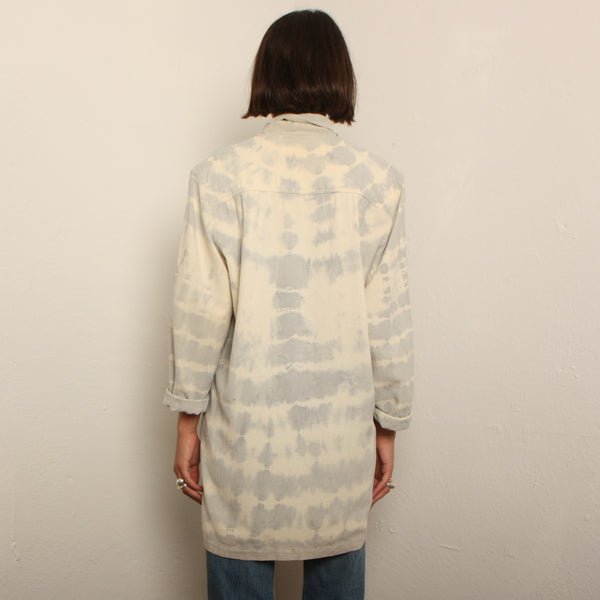 Vintage 80's Raw Silk Shibori Dyed Jacket