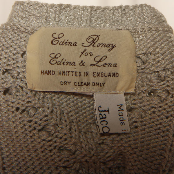 Vintage 70's Edina Ronay England Hand Knit Cotton Jumper