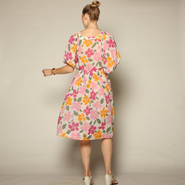 Vintage 70's Nipon Boutique Cotton Voile Dress
